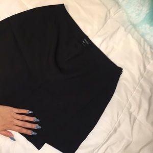 Forever 21 Black Skirt with longer side